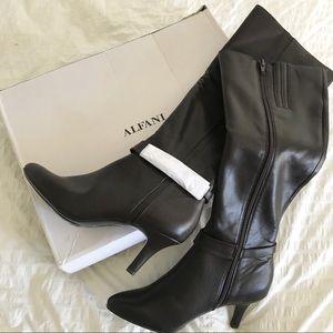 Brown Alfani Jemsey Knee High Boots NWT